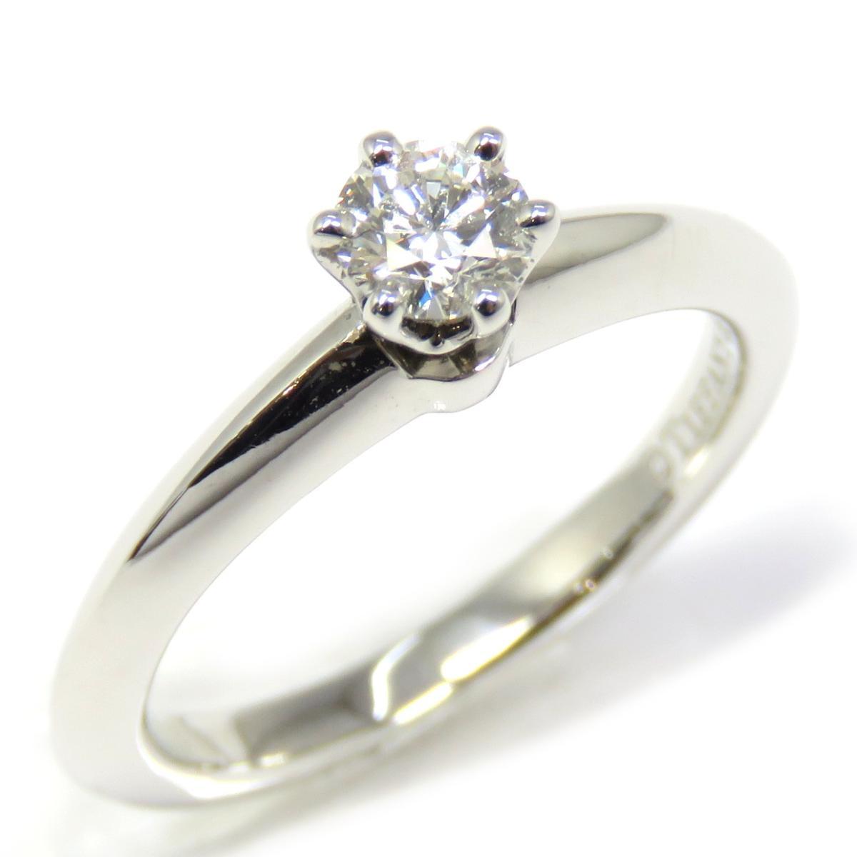 数量限定セール  【特価商品】TIFFANY&CO(ティファニー)/ソリティアリング ダイヤモンド 指輪/リング//PT950(プラチナ)×ダイヤモンド 0.24ct/【ランクA】/5号【】, one creation 9c71e5c8