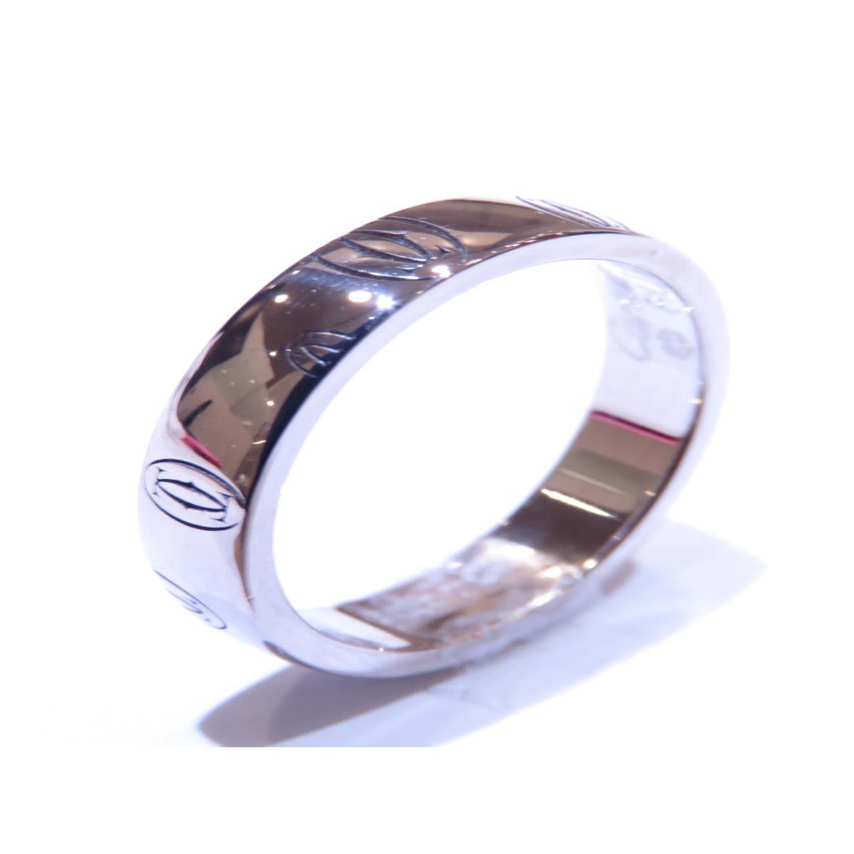 Cartier(カルティエ)/ハッピーバースデー リング 指輪/リング//K18WG(750)ホワイトゴールド/【ランクA】/#49/9号【中古】