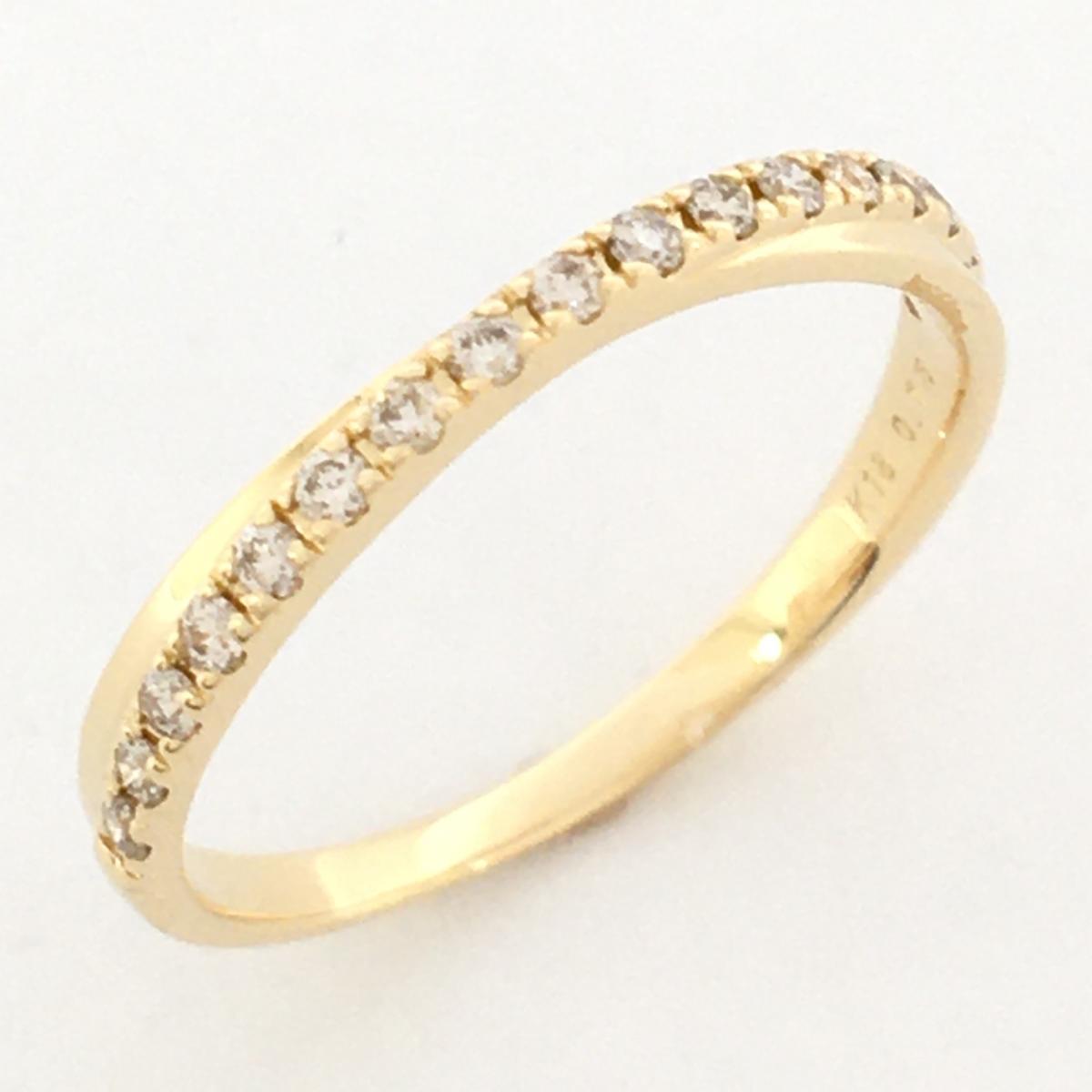 JEWELRY(ジュエリー)/ダイヤモンドリング 指輪/リング//K18YG(750)イエローゴールド×ダイヤモンド 0.15ct/【ランクS】/9.5号【中古】