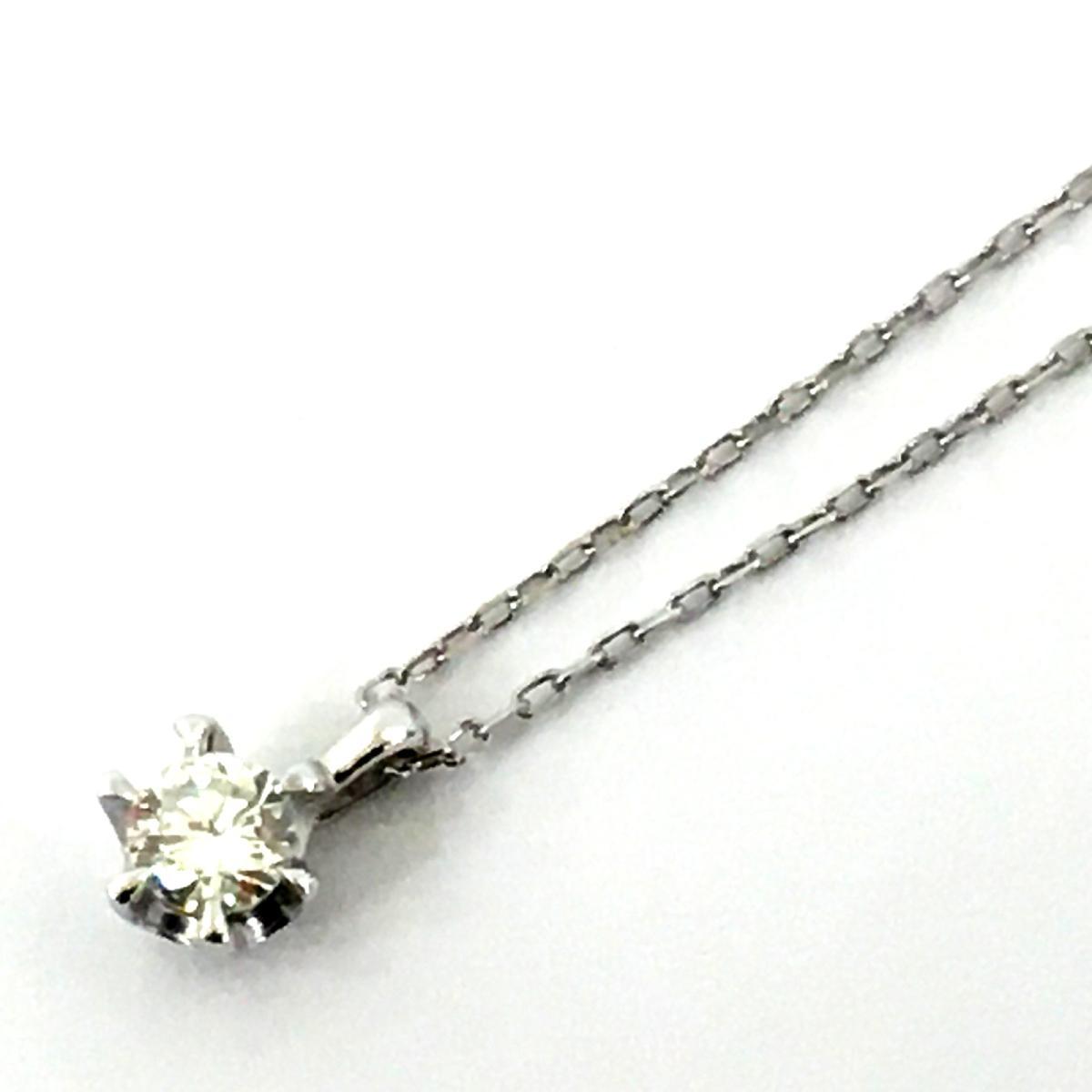 JEWELRY(ジュエリー)/ジュエリー ダイヤモンドネックレス ネックレス/ネックレス//K18WG(750)ホワイトゴールド×ダイヤモンド(0.10ct)/【ランクS】【中古】