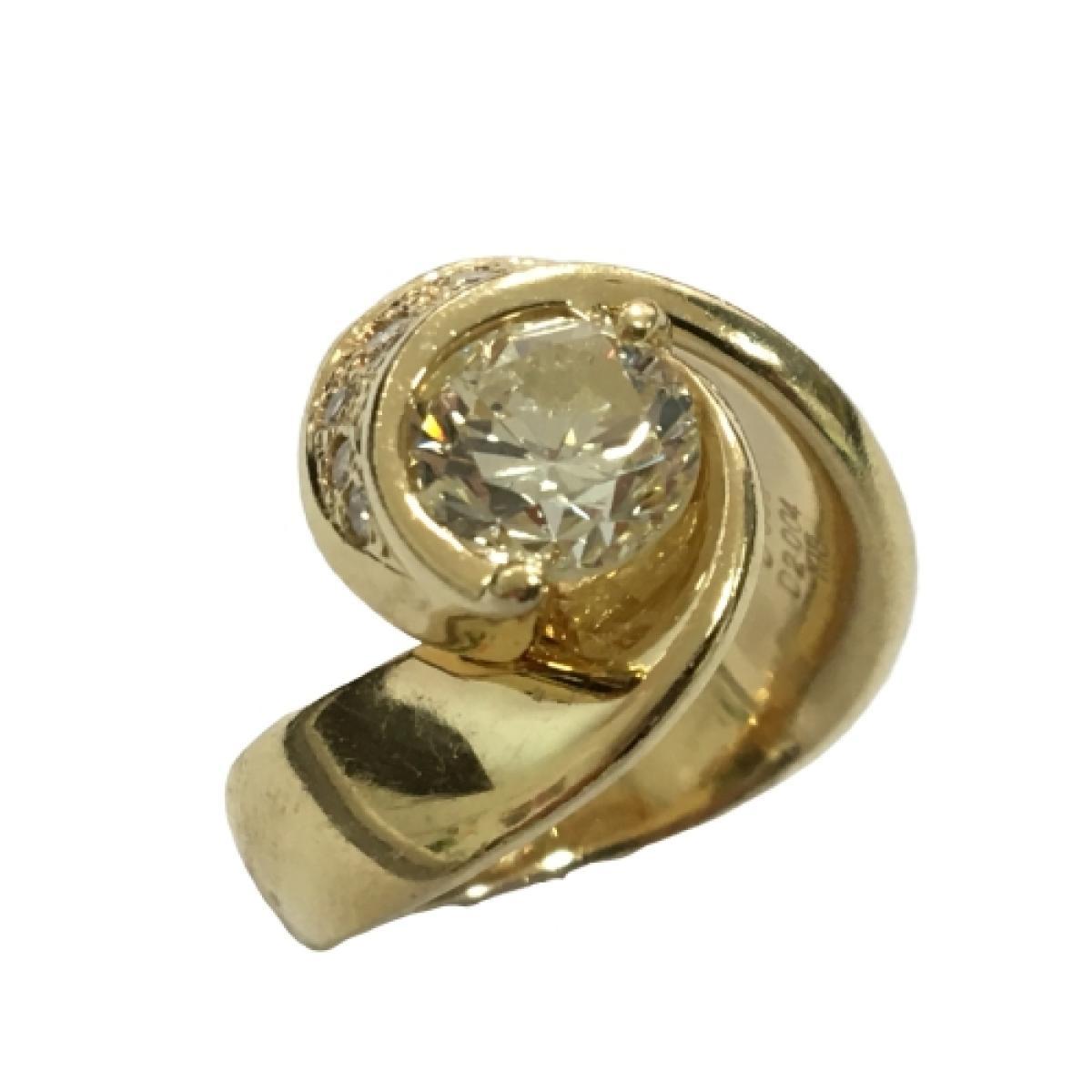 JEWELRY(ジュエリー)/ジュエリー ダイヤモンド 指輪 リング/リング/白系/K18YG(750)イエローゴールド×ダイヤモンド(2.00ct)×ダイヤモンド(0.30ct)/【ランクA】/12号【中古】