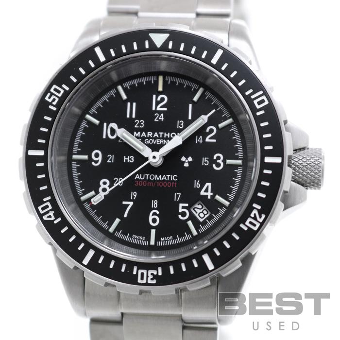 マラソン 【MARATHON】 ジーサー WW194006(1024-0000303) メンズ ブラック ステンレススティール 腕時計 時計 GSAR BLACK SS 【新品】