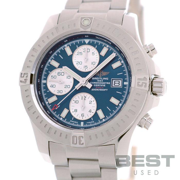 ブライトリング 【BREITLING】 コルトクロノグラフオートマチック A13388 (A181C14PCS) メンズ ブルー ステンレススティール 腕時計 時計 COLT CHRONOGRAPH AUTOMATIC BLUE SS 【中古】