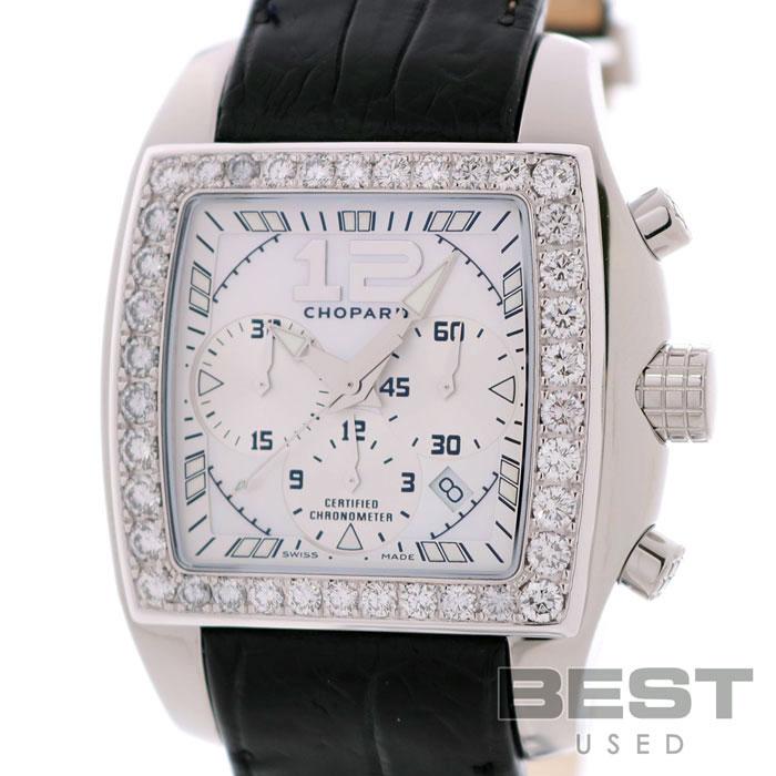 ショパール 【CHOPARD】 ツゥー・オー・テン 178990-2001 メンズ ホワイト K18ホワイトゴールド/ステンレススティール 腕時計 時計 TWO O TEN TYCOON CHRONOGRAPH WHITE K18WG/SS 【中古】