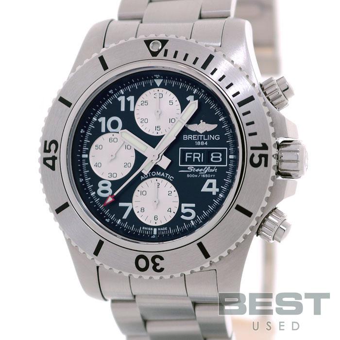 info for 21913 183a0 Blight ring trance ocean chronograph steel fish A13341 (A141B19PSS) men  black stainless steel watch clock SUPEROCEAN CHRONOGRAPH STEELFISH BLACK SS
