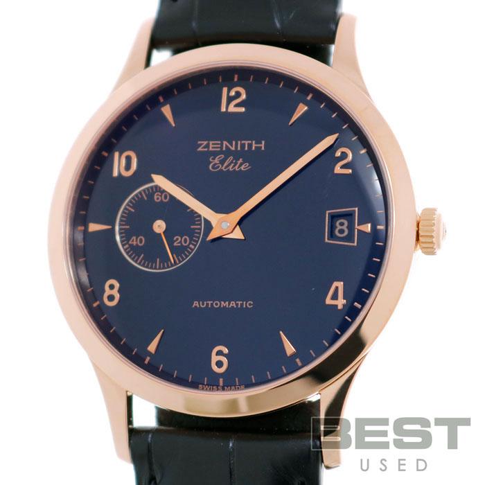 ゼニス 【ZENITH】 クラス エリート オートマティック 17.0125.680 メンズ ブラック K18ピンクゴールド 腕時計 時計 CLASS ELITE AUTOMATIQUE BLACK K18PG 【中古】