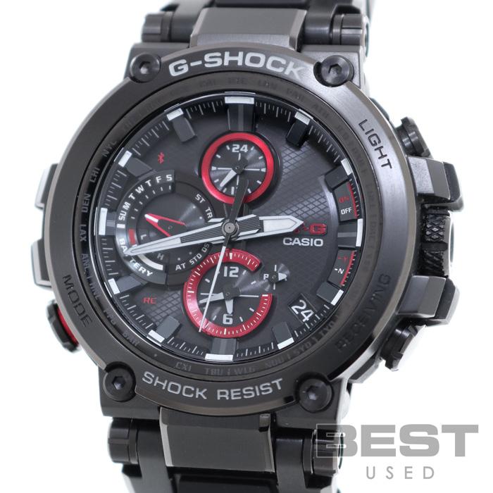 カシオ 【CASIO】 Gショック MT-G MTG-B1000B-1AJF メンズ ブラック ステンレススティール/樹脂 腕時計 時計 G-SHOCK MT-G BLACK SS 【中古】