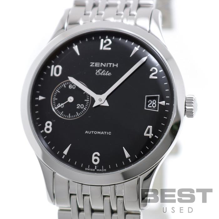 ゼニス 【ZENITH】 クラス エリート 01/02.1125.680 メンズ ブラック ステンレススティール 腕時計 時計 CLASS ELITE BLACK SS 【中古】