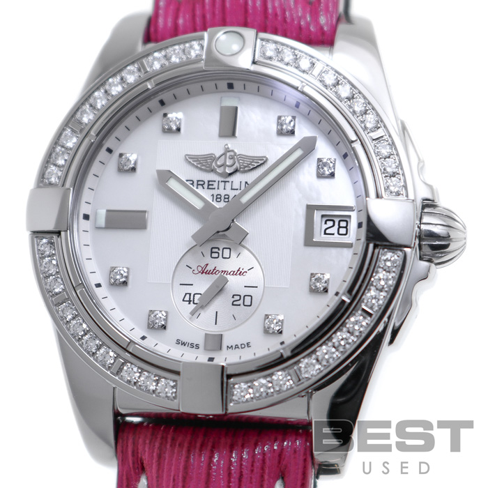 ブライトリング 【BREITLING】 ギャラクティック 36 A37330(A373A21HBA) レディース ホワイトシェル ステンレススティール 腕時計 時計 GALACTIC 36 WHITE SHELL SS ダイヤモンドベゼル D8Pダイヤモンド MOP【中古】
