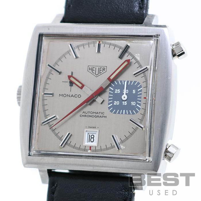 ホイヤー 【THEUER】 モナコ クロノグラフ 1533 メンズ シルバー ステンレススティール 腕時計 時計 MONACO CHRONOGRAPH SILVER SS ヴィンテージウォッチ タグホイヤー TAG HEUER【中古】