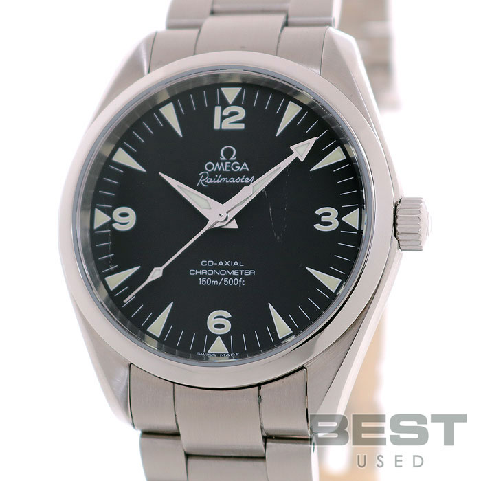 オメガ 【OMEGA】 シーマスターアクアテラレイルマスター 2503.52 メンズ ブラック ステンレススティール 腕時計 時計 SEAMASTER AQUATERRA RAILMASTER BLACK SS 2503-52【中古】