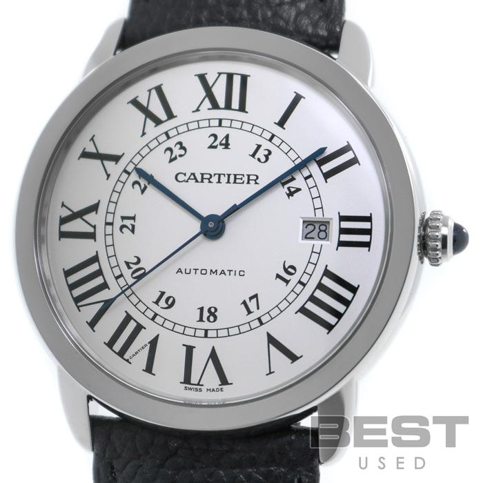 カルティエ 【CARTIER】 ロンド ソロ ドゥ カルティエWSRN0022 メンズ シルバー ステンレススティール 腕時計 時計 RONDE SOLO DE CARTIER SILVER SS 【中古】