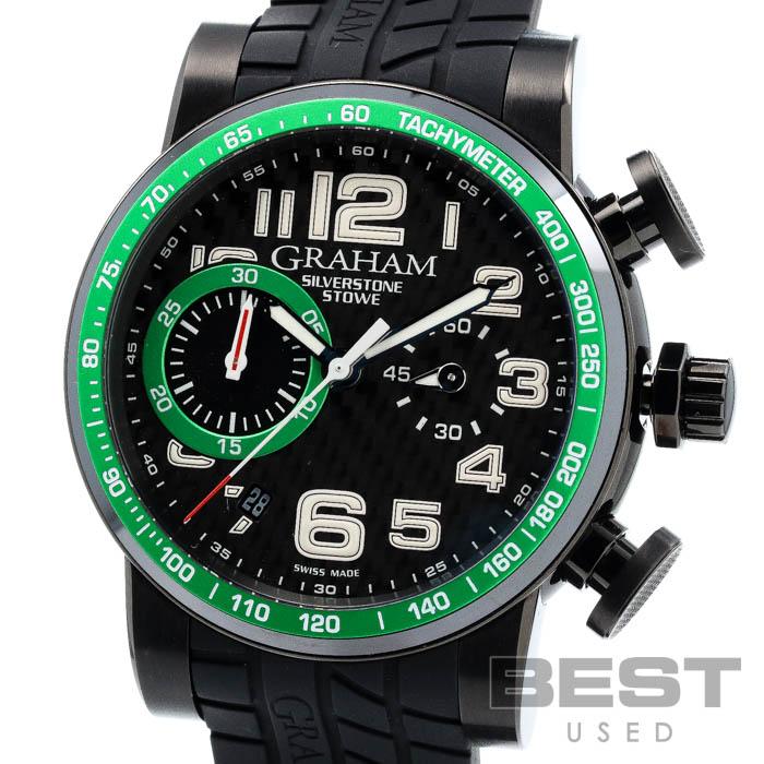 送料無料 未使用品 高額売筋 グラハム 人気上昇中 GRAHAM シルバーストーン 2SAAB.B02A メンズ ブラック ステンレススティール 中古 PVD SS SILVERSTONE ブラックPVD加工 BLACK 腕時計 時計