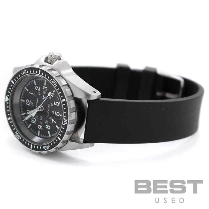 マラソン 【MARATHON】 ジーサー WW194026(1024-0000306) メンズ ブラック ステンレススティール 腕時計 時計 GSAR BLACK SS 【新品】