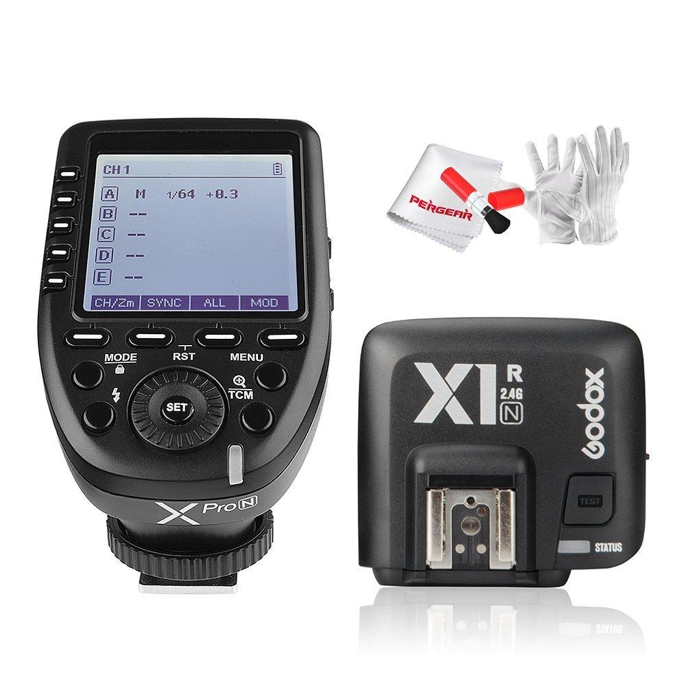 【日本語説明書あり&正規品】Godox Xpro-N送信機+GodoxTTL X1R-N 受信機  TTL2.4Gワイヤレスフラッシュトリガー 高速同期 1 / 8000s Xシステム Nikon一眼レフカメラ対応 技適マーク付き