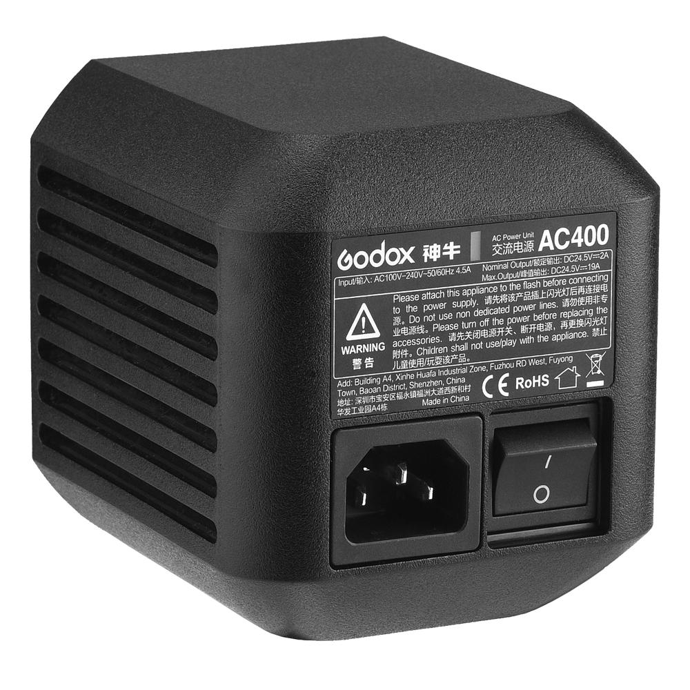 【Godox正規代理店】Godox AC400 AC電源ユニット AD400PRO用ケーブル付き電源アダプタ