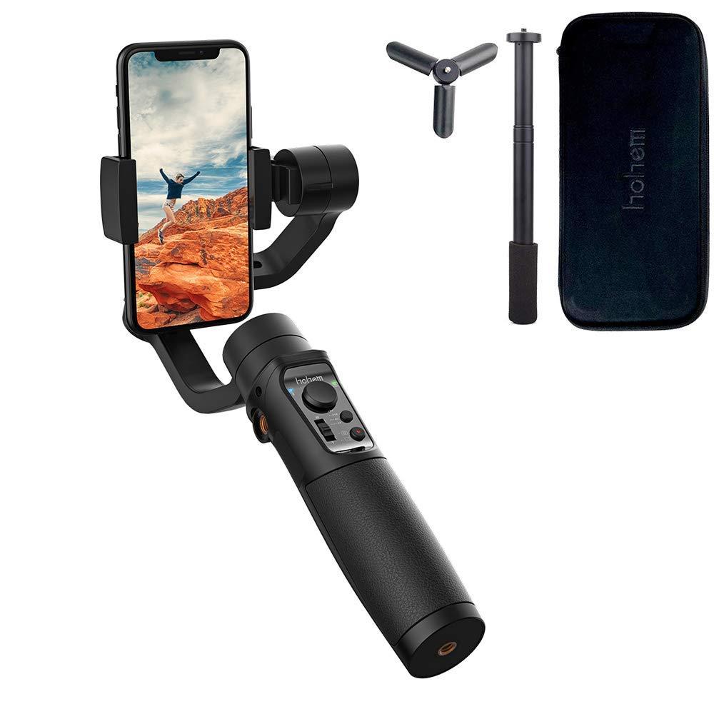 「アップグレード版」Hohem iSteady Mobile Plus 3軸スマートフォスタビライザー+延長棒 ジンバル オブジェクト追跡 新アプリ制御 耐荷重280g スマホ用ジンバル スマホ