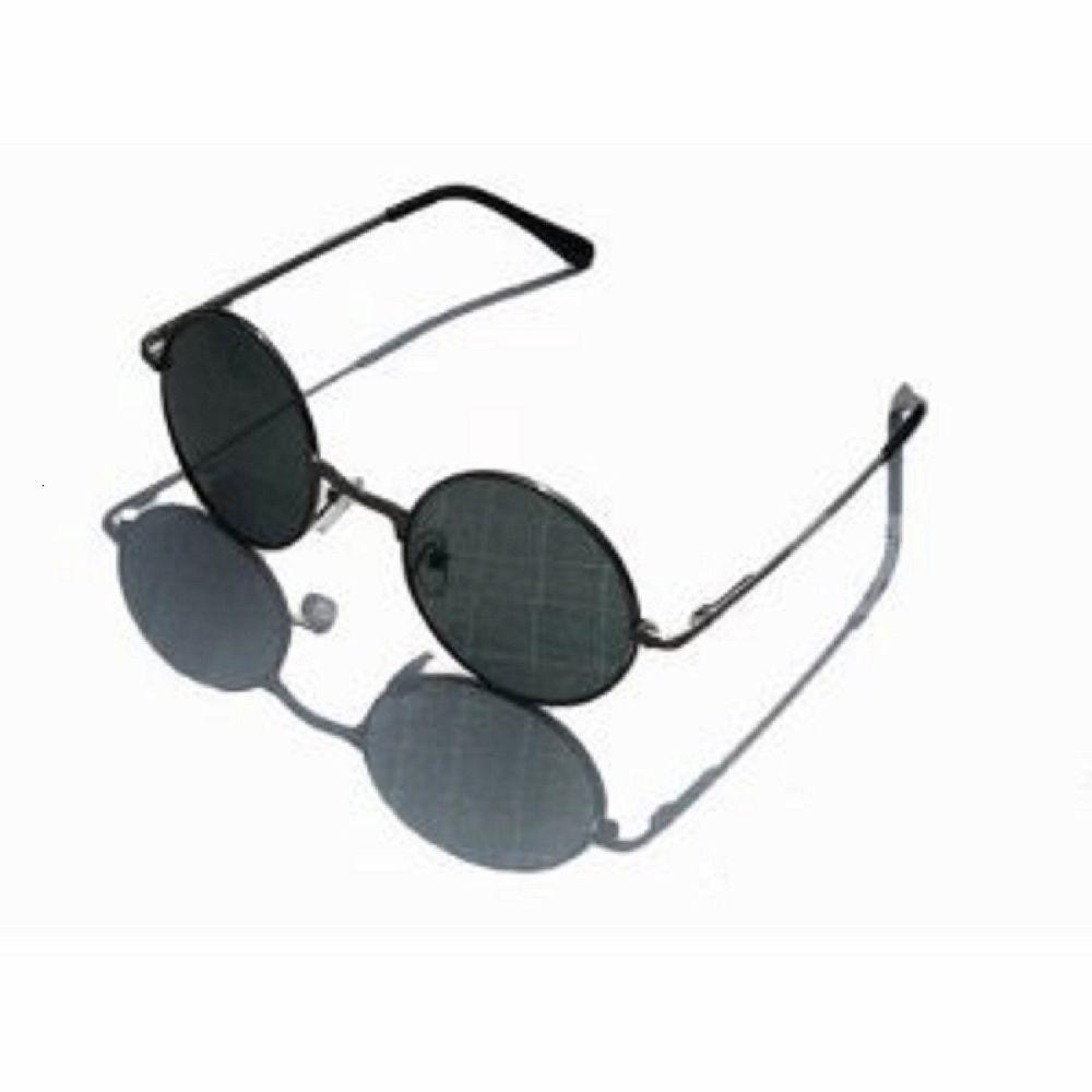 黒メガネ 丸眼鏡 レトロ調 サングラス ブラック ジョンレノ風 オノ・ヨーコ風 UVカット コスプレ |500円以上のご注文でラッキーシール対応