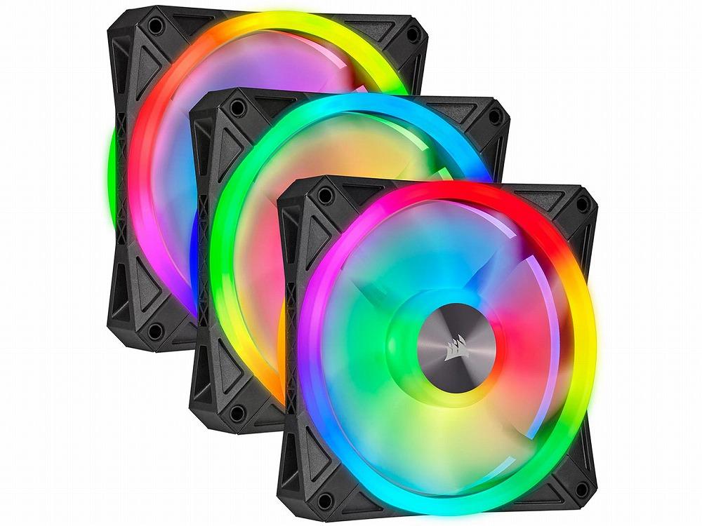◆ファン3台+Lighting Node CORE同梱パック【CORSAIR】QL120 RGB Triple Fan Kit (CO-9050098-WW)