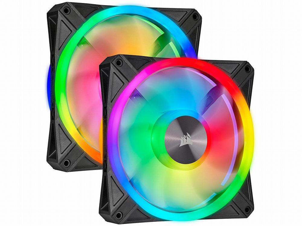 ファン2台 完全送料無料 LightingNodeCORE同梱パック Lighting Node CORE同梱パック CORSAIR QL140 RGB Fan Dual CO-9050100-WW プレゼント Kit