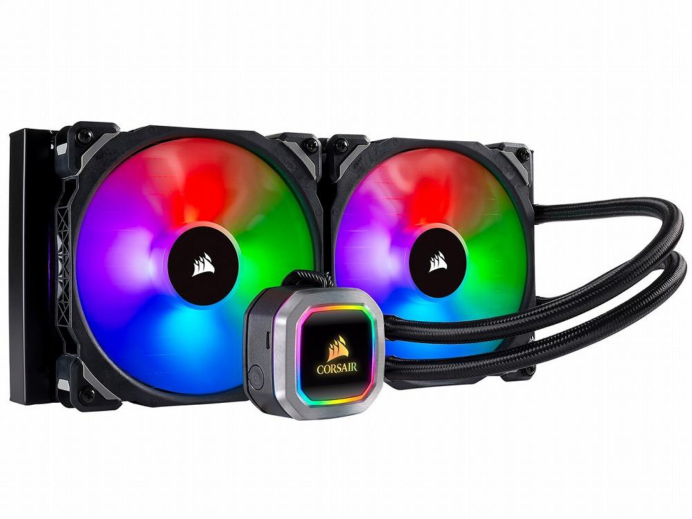 ◆アドレッサブルRGB搭載 280mmサイズの水冷一体型ユニット【CORSAIR】H115i RGB PLATINUM (CW-9060038-WW)