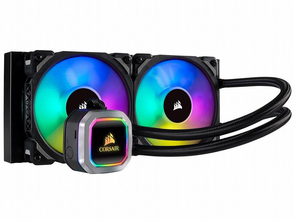 ◆アドレッサブルRGB搭載 240mmサイズの水冷一体型ユニット【CORSAIR】H100i RGB PLATINUM (CW-9060039-WW)