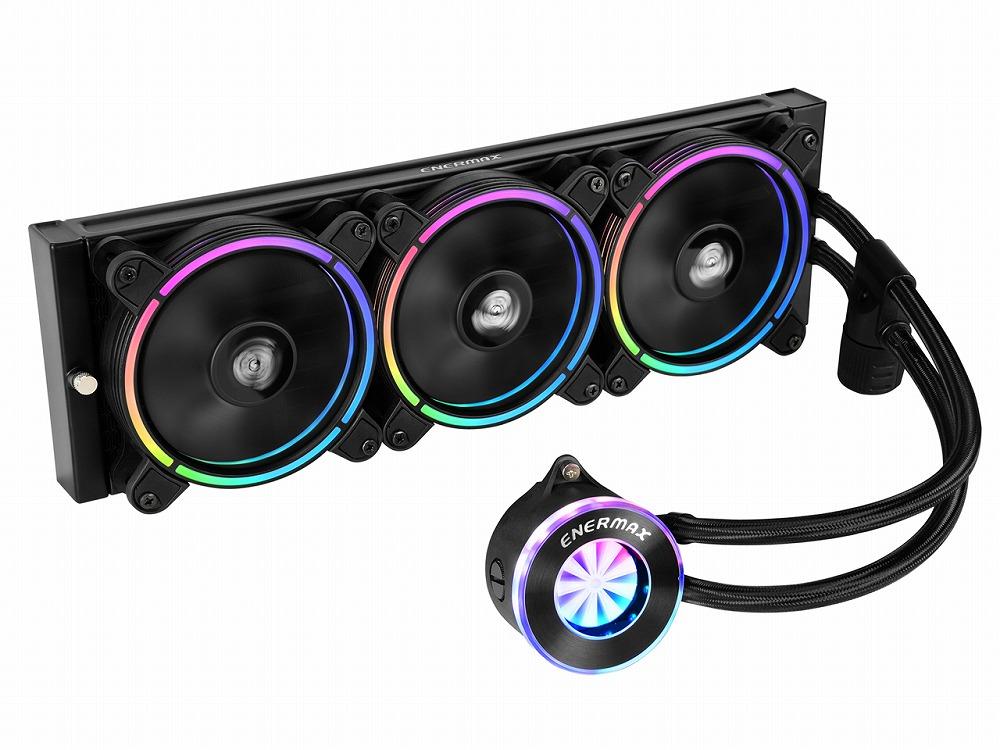 ◆LIQFUSION 360(360mmRGB水冷CPUクーラー)【ENERMAX】ELC-LF360-RGB