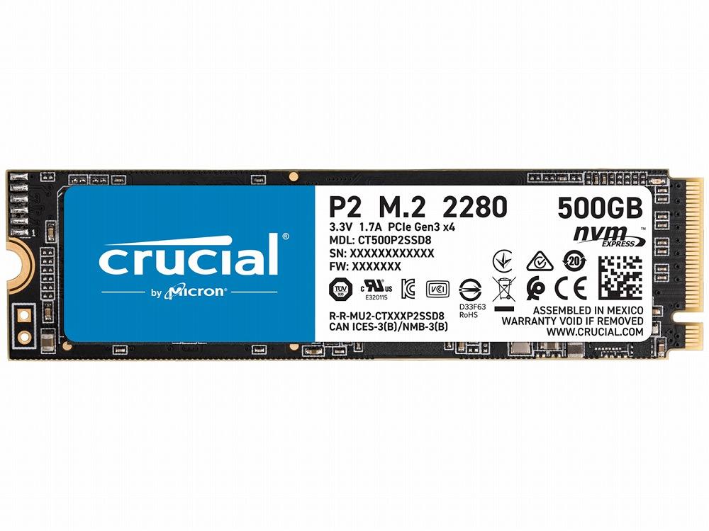 ◆○NVMe SSD【クルーシャル】CT500P2SSD8JP