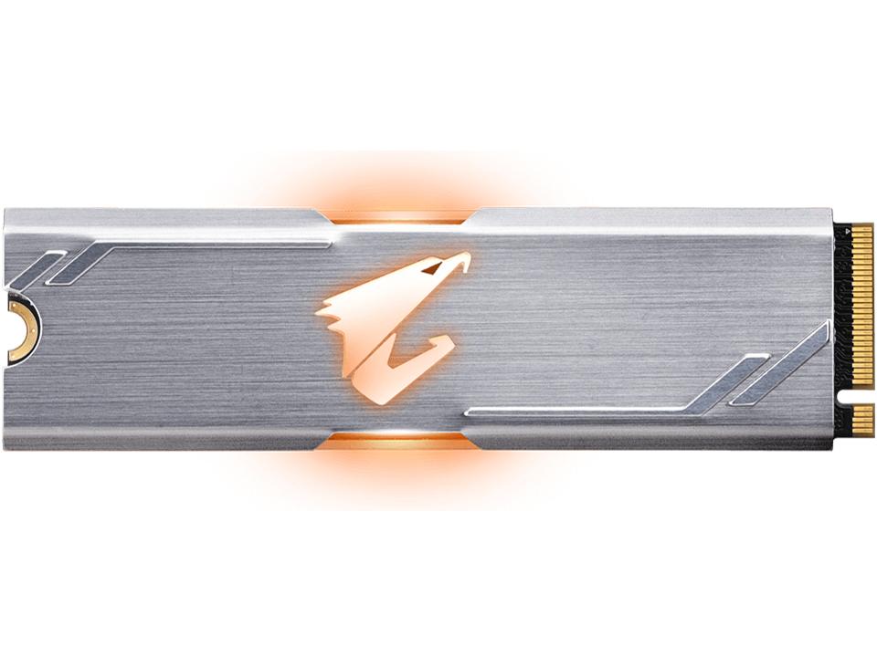 ◆○光る!M.22280(NVMe)SSD ◆○光る!M.2 2280(NVMe) SSD【Gigabyte】GP-ASM2NE2512GTTDR