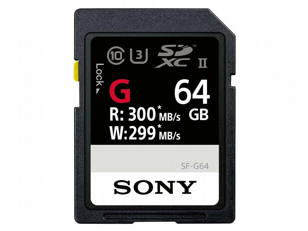 ◆○在庫のみ特価!最大転送速度:300MB/s最大書込速度:299MB/s(海外パッケージ) ◆○在庫のみ特価!最大転送速度:300MB/s 最大書込速度:299MB/s(海外パッケージ)【SONY】SF-G64 [64GB] (or TI)