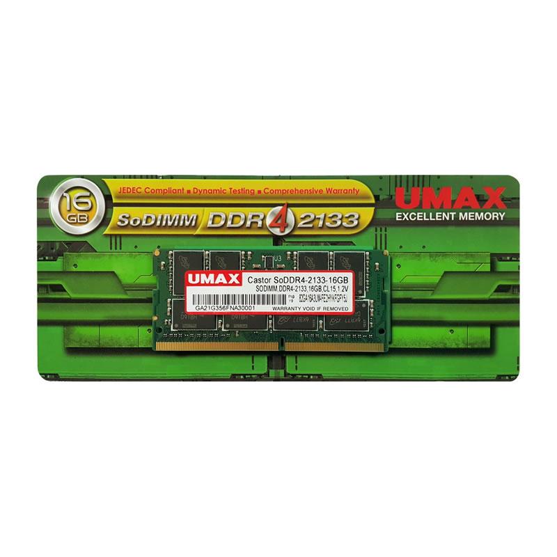 ◆○在庫限り!DDR4メモリ【UMAX】Castor SoDDR4-2133-16GB (16GX1枚)