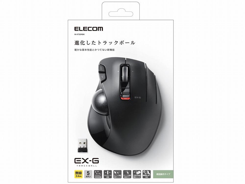 在庫あり 在庫限定 返品交換不可 トラックボールマウス ELECOM M-XT2DRBK 無線