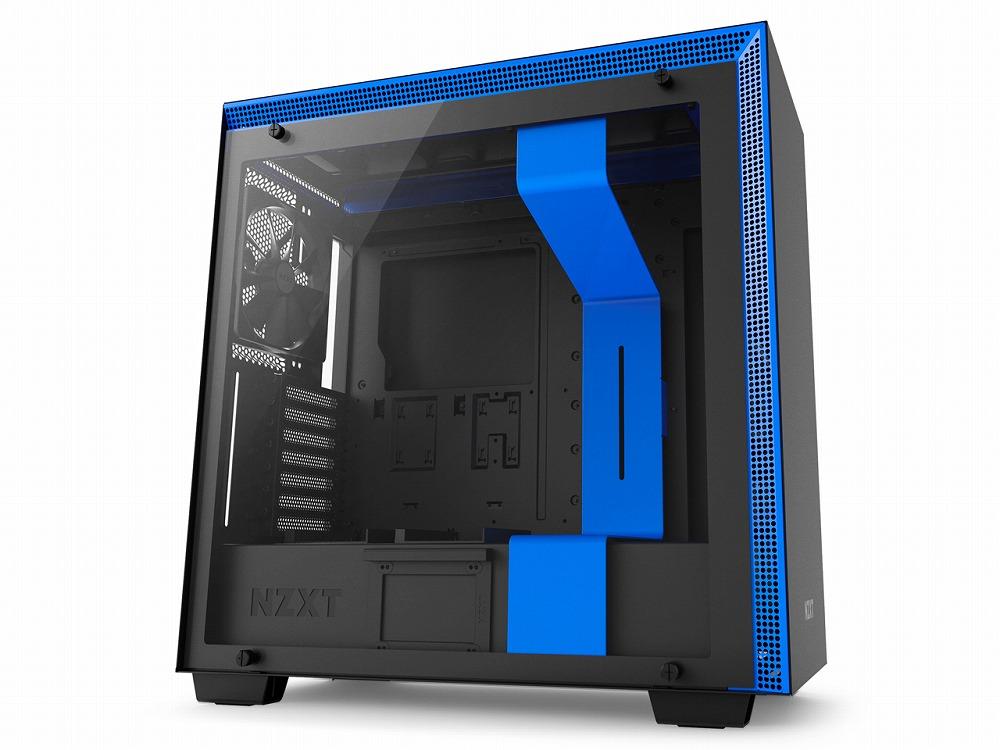 ◆在庫限り!自分好みに改造できる、最上位モデルのネイキッドモデル【NZXT】CA-H700B-BL  青モデル