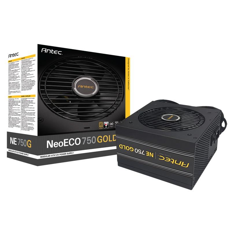 80PLUSGOLD認証取得 高効率高耐久静音電源ユニット 80PLUS GOLD認証取得 NeoECO 正規品スーパーSALE×店内全品キャンペーン Gold ANTEC NE750G 卓越
