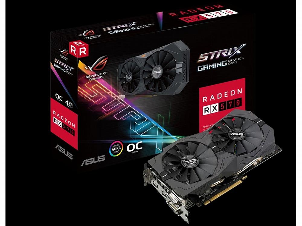 ◆在庫僅か!在庫限り終了!!PCI-E【ASUSTeK】ROG-STRIX-RX570-O4G-GAMING