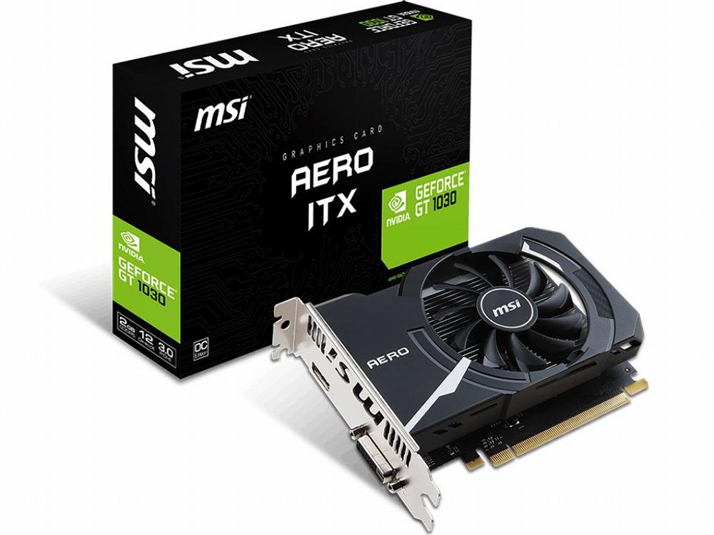 ◆残り1個!在庫限り!PCI-E【MSI】GeForce GT 1030 AERO ITX 2G OC