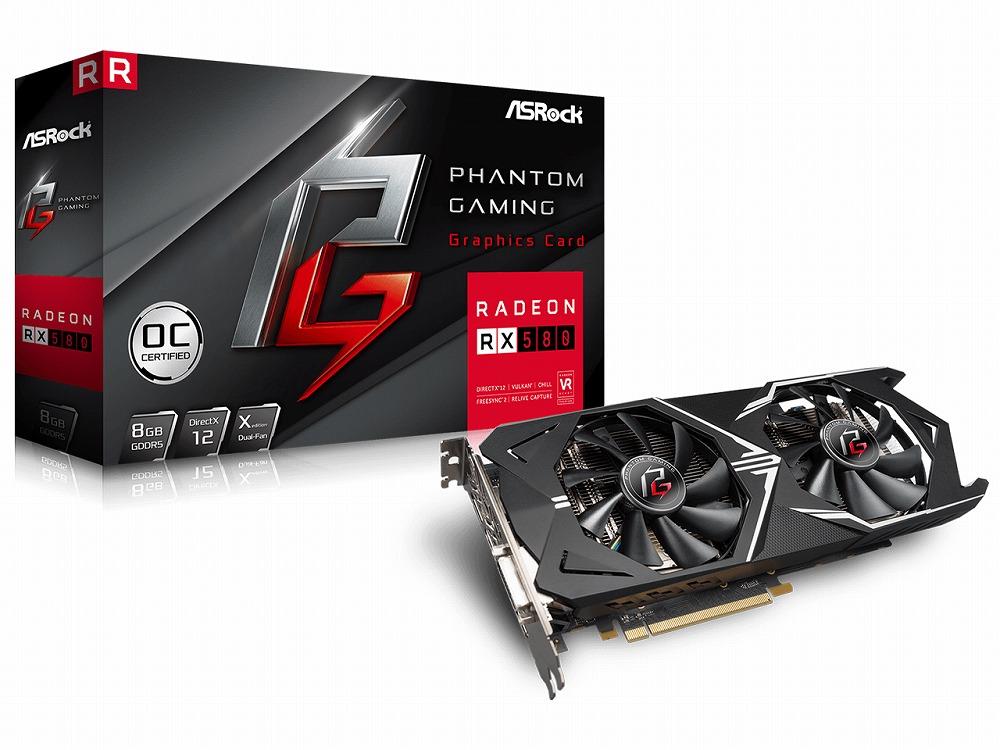 ◆在庫のみ特価!【ASRock】Phantom Gaming X Radeon RX580 8G OC