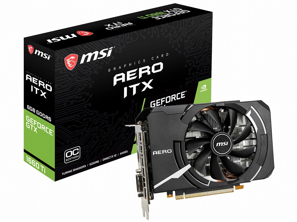 ◆PCI-E【MSI】GeForce GTX 1660 Ti AERO ITX 6G OC