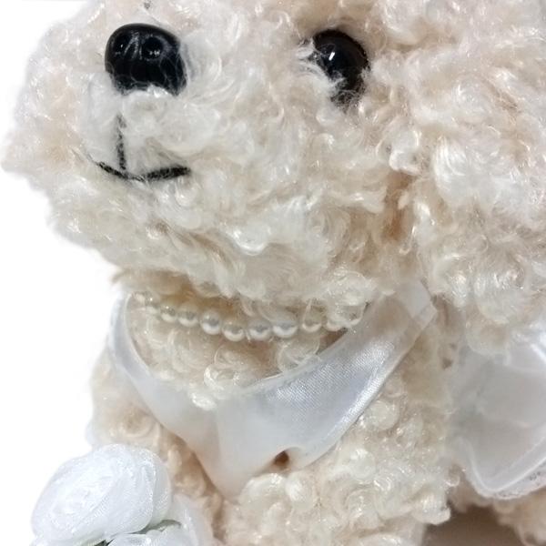 結婚式にぴったり!プレミアムパピーウェルカムドールウェディングドールトイプードルホワイト犬ぬいぐるみ結婚祝い披露宴ウェディングギフト完成品ブライダル結婚式準備道具ウェルカムボード