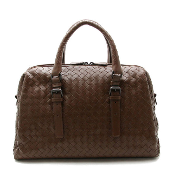 Light calf bag handbags Boston bag part EDOARDO intrecciato BOTTEGA VENETA Bottega Veneta プリュッセ (Brown) 283363 VQ1300 2515
