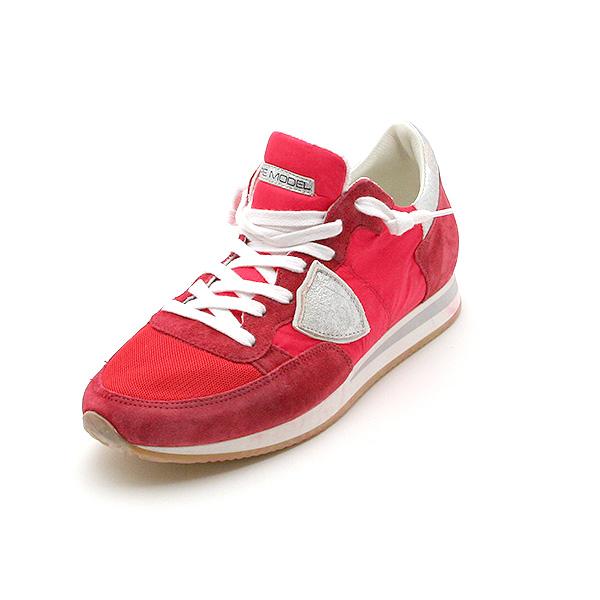 필립 모델 PHILIPPE MODEL 맨즈 로 컷 스니커 RED/GERANEO/SILVER (레드/실버) TRLU WT16 RED/GERANEO/SILVER
