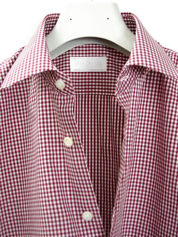 Prada Mens Dress Shirt Gingham Amaranto Ucm608 318 399