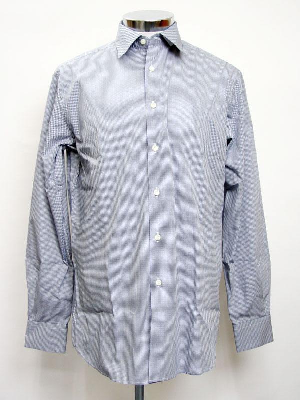 Prada Mens Dress Shirt Gingham Navy Blue Ucm473 Wtg 124