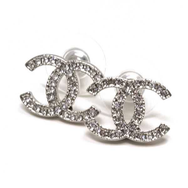 Point Three Times 24 23 59 Chanel Cc Coco Make Rhinestone Earrings Silver Crystal A42175 Y02003 Z2371