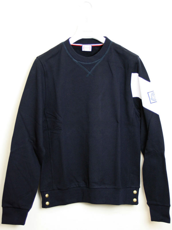 Monkleylgam blue MONCLER GAMME BLEU mens trainer Sweatshirt BLU (Navy Blue) 8005950 80471 778.