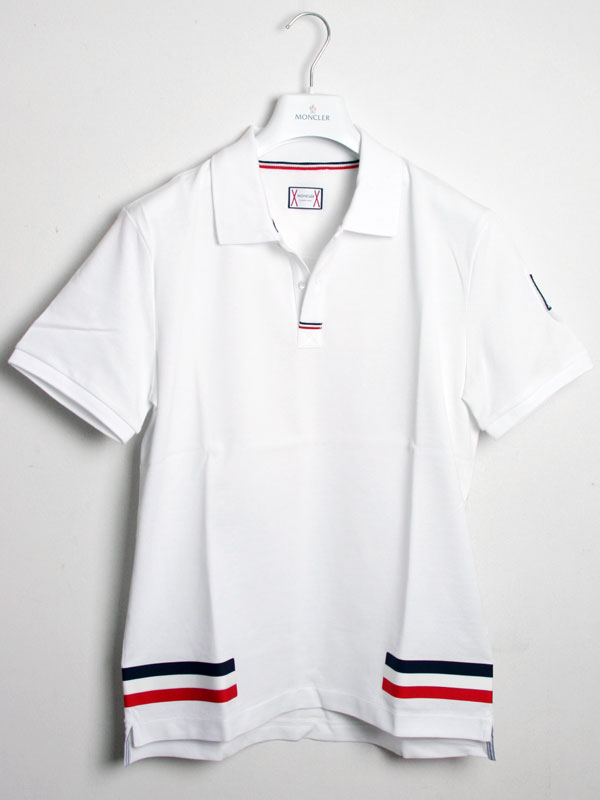 mens blue moncler polo shirt