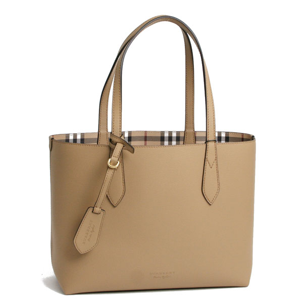 Burberry Reversible Tote Bag Mid Camel Haymarket Check 4049585 1