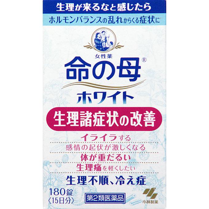 【第2類医薬品】命の母ホワイト 180錠 【5個セット】【お取り寄せ】(4987072073971-5)
