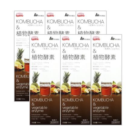 【送料無料】 KOMBUCHA&植物酵素 720mL 【6本セット】【お取り寄せ】(4954007016488-6)