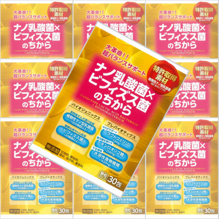 ナノ乳酸菌×ビフィズス菌のちから 2gx30包 【10箱セット】【お取り寄せ】(4987656132698-10)